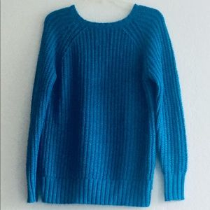 American Eagle Teal Ribbed Sweater